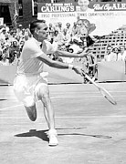 Tennis Player Metal Prints - Tennis Champion Jack Kramer, Playing Metal Print by Everett
