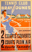 Tennis Drawings Originals - Tennis Club Bray Dunes - Guion by Guion