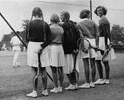 Sports Clothing Prints - Tennis Contestants Print by Fox Photos