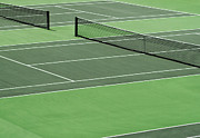 Tournament Photo Prints - Tennis court Print by Blink Images