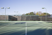 Tennis Court Framed Prints - Tennis Court Framed Print by Jeremy Woodhouse