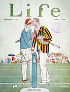 1925 Prints - Tennis Court Romance, 1925 Print by Granger