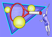 Tennis Racket Digital Art - Tennis by Erasmo Hernandez