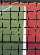 Tennis Court Prints - Tennis Net and Court Print by Thom Gourley/Flatbread Images, LLC