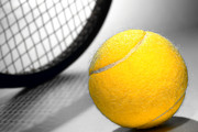 Tennis Ball Photos - Tennis by Olivier Le Queinec