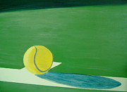 Us Open Painting Framed Prints - Tennis Reflections Framed Print by Ken Pursley