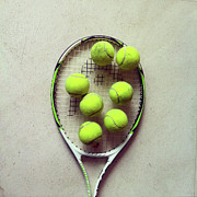 Square Tapestries Textiles - Tennis by Shilpa Harolikar