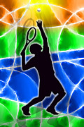 Player Digital Art Posters - Tennis Poster by Stephen Younts