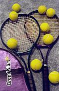 Tennis Stil Life 2 Print by Steve Ohlsen