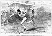 Lawn Tennis Framed Prints - Tennis: Wimbledon, 1880 Framed Print by Granger