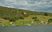 Horsetooth Reservoir Art - Tent Camping at Horsetooth Reservoir by Harry Strharsky