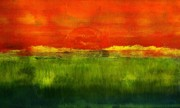 Sunshine Paintings - Tequila Sunrise by Geegee W