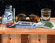 Sunglasses Painting Posters - Tequila with Lime No. 5 Poster by Thomas Weeks