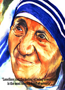 Mother Teresa Paintings - Teresa 5 by Luis  Leon