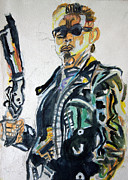 Schwarzenegger Paintings - Terminator 2 - II15 by John Kelting
