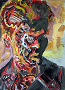 Schwarzenegger Paintings - Terminator 2 Abstract - II09 by John Kelting