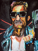 Schwarzenegger Paintings - Terminator Movie Poster - II14 by John Kelting