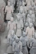 Terra Cotta Framed Prints - Terra Cotta Warriors Detail Framed Print by Thomas Marchessault