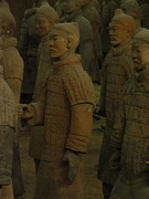 Qin Prints - Terra Cotta Warriors Excavated At Qin Print by Richard Nowitz