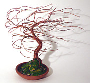 Instruction Originals - Terra Cotta Wind Swept - Wire Tree by Sal Villano