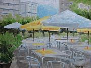 Cafe Terrace Painting Posters - Terrace Cafe Poster by Robert Rohrich