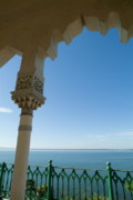 Terrace With A View Of The Sea On Top Of The Palacio De Valle Print by Sami Sarkis