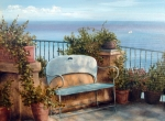 Irene Anna Vianello - Terrace With Bench By...