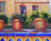 Andalucia Pastels Posters - Terracotta and Tiles Poster by Candy Mayer