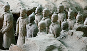 Lintong Framed Prints - Terracotta Army Xian Framed Print by Jessica Estrada