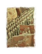 Qin Prints - Terracotta Warriors 3 with Framing Print by Carol Groenen