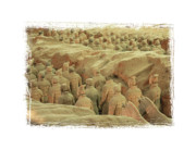 Qin Prints - Terracotta Warriors 4 with Framing Print by Carol Groenen
