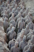 Qin Prints - Terracotta Warriors 5 Print by Carol Groenen