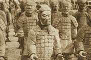 Terracotta Warriors China Pavilion Epcot Walt Disney World Prints Vintage Print by Shawn OBrien