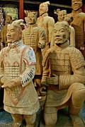 Clay Sculpture Framed Prints - Terracotta Warriors Framed Print by Dorota Nowak