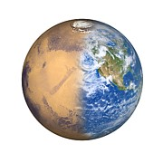 Colonisation Prints - Terraforming Mars, Artwork Print by Detlev Van Ravenswaay
