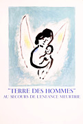 Mourlot Paintings - Terre des Hommes by Marc Chagall