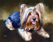 Terrier Print by Ellens Art