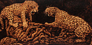 African Pyrography Prints - Territory Print by Steven Hawkes