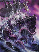 Purple Paintings - Terror from the Deep by Oliver Frey