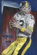 Pittsburgh Painting Framed Prints - Terry Bradshaw XIII MVP Framed Print by David Courson