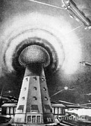 Alternating Current Photos - Tesla Tower, 1919 by Science Source