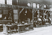 Alternating Current Photos - Teslas And Westinghouses Lab by Science Source