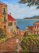 Villa Paintings - Tessas Villa by Joseph Papale