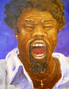 Shouting Painting Prints - Testimony Print by Nyiece Pregeant Owens