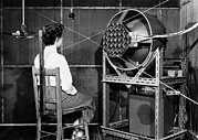 Listener Framed Prints - Testing An Audio System, 1954 Framed Print by National Physical Laboratory (c) Crown Copyright
