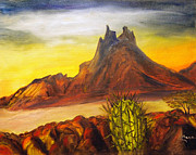 Sonora Painting Originals - Tetakawi San Carlos Sonora Mexico by Veronica Zimmerman