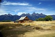 Marty Koch Framed Prints - Teton Barn 3 Framed Print by Marty Koch