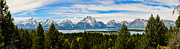 Grand Tetons Framed Prints - Teton June Panorama Framed Print by Greg Norrell
