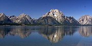 Teton Panoramic View Print by Marty Koch