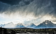 Most Viewed Framed Prints - Teton Storm Framed Print by Justin  Hill